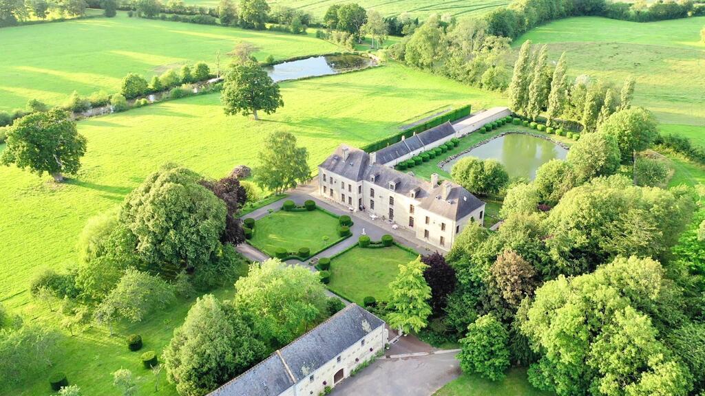 Château du Bû vu du ciel