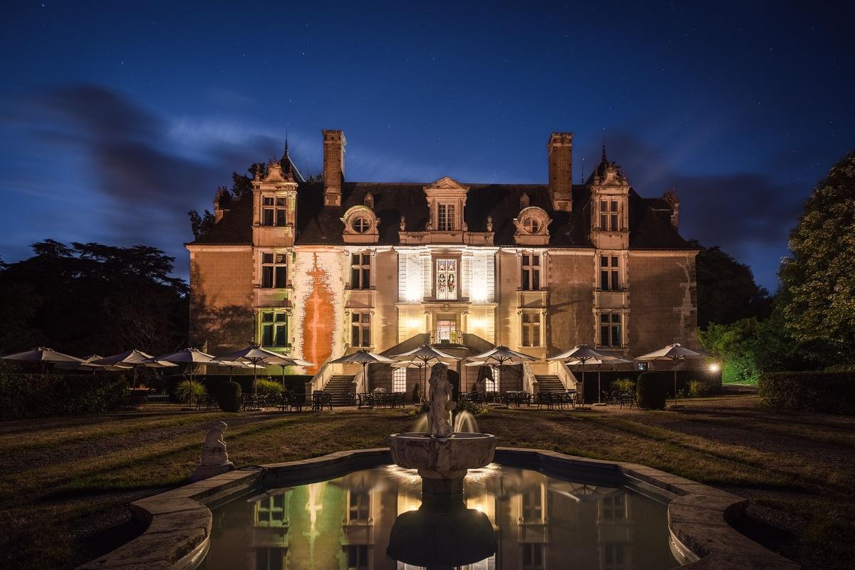 Château de Noizay de nuit